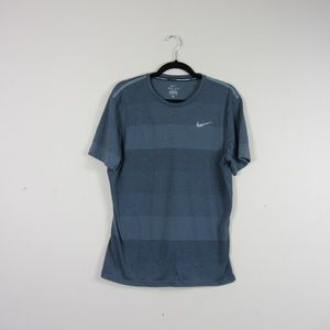 Nike Gray Dri Fit Short Sleeve Running Shirt
